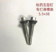 进口标的厚檩条专用自攻螺钉5.5x38mm