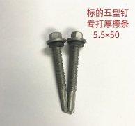 进口标的厚檩条专用自攻螺钉5.5x50mm